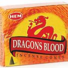 HEM Dragon's Blood 10 incense cones - ICHDB