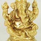 "Ganesh Sitting Brass 3"" - SG975"