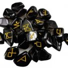 Black Tourmaline rune set - RRBLAT