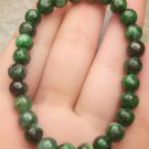 Certified Oily Green Natural A Jade Jadeite Handmade 5mm Beads Stretchy Bracelet