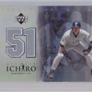 ICHIRO JERSEY CARD 2001 ULTIMATE COLLECTION MARINERS