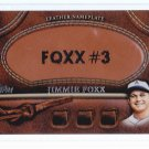 2011 Topps Series 2  Leather Nameplate Jimmie FOXX