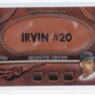 SALE===  2011 Topps 2 Leather Nameplate Monte IRVIN