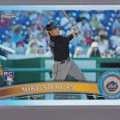 Mike Nickeas - Mets - 2011 Topps Chrome Refractor Rookie card