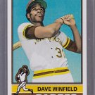1976 Topps Dave Winfield 2011 reprint original back
