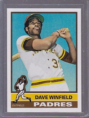 1976 Topps Dave Winfield 2011 reprint original back