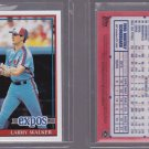 2011 Topps Original Back Reprint Larry Walker 1991