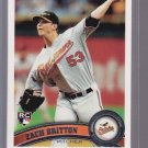 5 Card lot = 2011 Topps  ZACK BRITTON  Rookie #418  ORIOLES