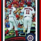 2011 Topps Series 2 WASHINGTON NATIONALS 9 card team set