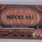 2011 Topps Series 2 Leather Nameplate PHIL NIEKRO  HOF