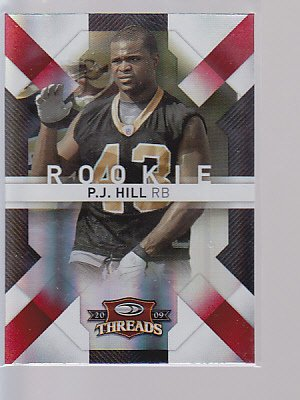2009 THREADS   P.J. HILL RC  #177    BADGERS    ---stk502
