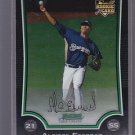 2009 Bowman Chrome #198 Alcides Escobar Brewers RC    *stk0446