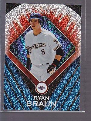 HOT =  2011 Topps Diamond Stars #DS24 Ryan Braun BREWERS