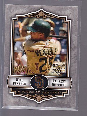 2009 Upper Deck A Piece of History ROOKIE  #136 WILL VENABLE     *stk0153