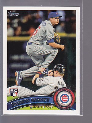 2011 TOPPS SERIES 2 ROOKIE DARWIN BARNEY #347 RC CUBS  ---*bb00 78