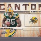 2009 Absolute Canton Absolutes Insert #19 Greg JENNINGS Green Bay