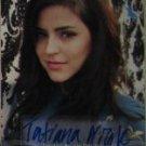 Tatiana Nicole Del Toro autograph American Idol 8 trading card