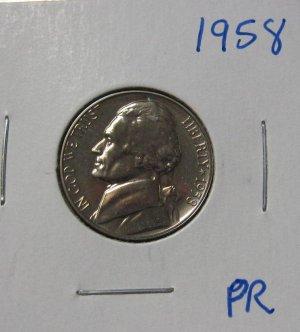 1958 Jefferson Nickel Proof, #2608