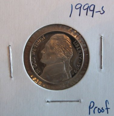 1999-S Proof Jefferson Nickel, #3026