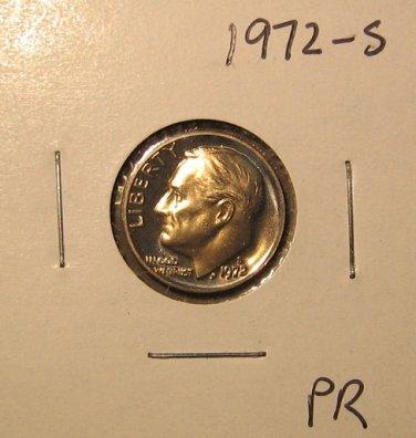 1972-S Proof Roosevelt Dime, #3469