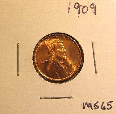 1909 Lincoln Wheat Cent, #2984  MS Red