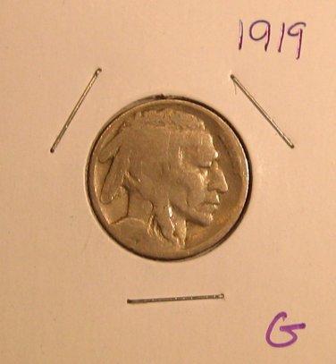 1919 Buffalo Nickel  #3370