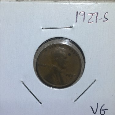 1927-S Lincoln Wheat Cent, #159
