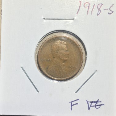 1918-S Lincoln Wheat Cent, #1027