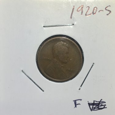 1920-S Lincoln Wheat Cent, #1317