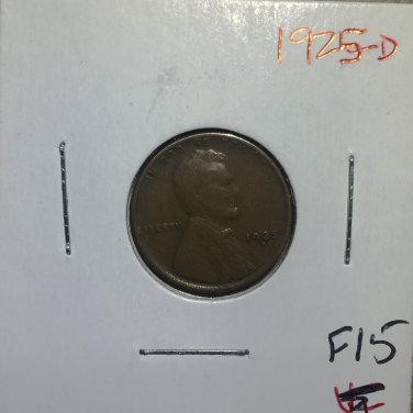1925-D Lincoln Wheat Cent, #1396