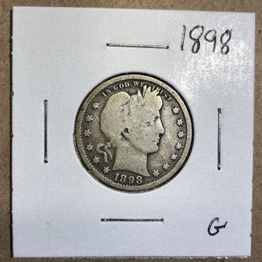 1898 Barber Quarter, #3566