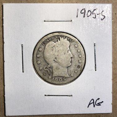 1905-S Barber Quarter, #3569