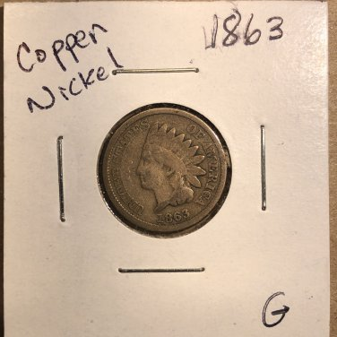 1863 Indian Head Cent, #3587