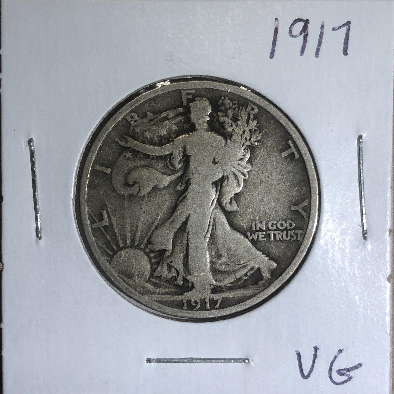 1917 Walking Liberty Half Dollar, #735