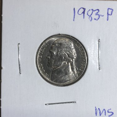 1983-P Jefferson Nickel, #2835