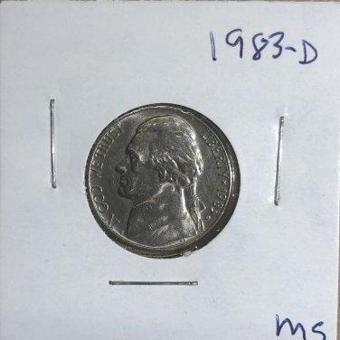 1983-D Jefferson Nickel, #3303