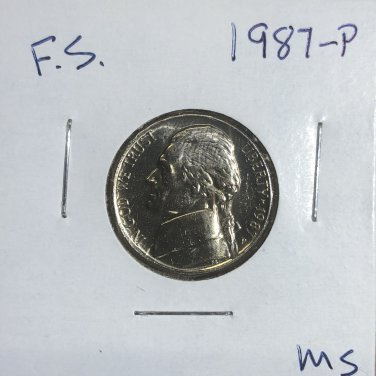 1987-P Jefferson Nickel, #3310