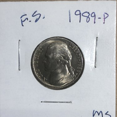 1989-P Jefferson Nickel, #3314