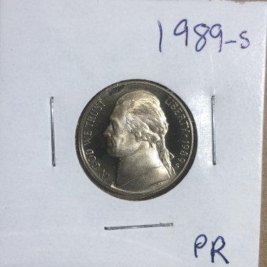 1989-S Jefferson Nickel Proof, #3267