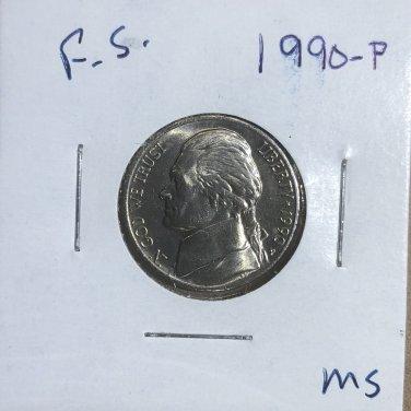 1990-P Jefferson Nickel, #3316