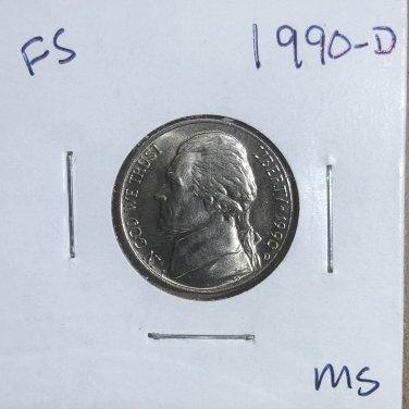 1990-D Jefferson Nickel, #3317