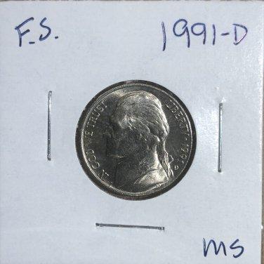 1991-D Jefferson Nickel, #3318