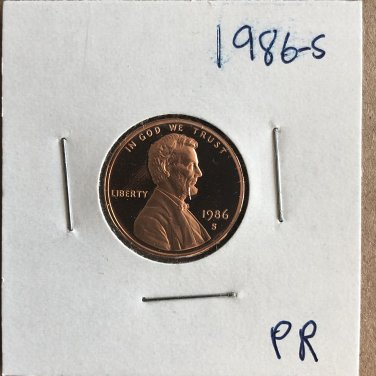 1986-S Lincoln Proof, #3262