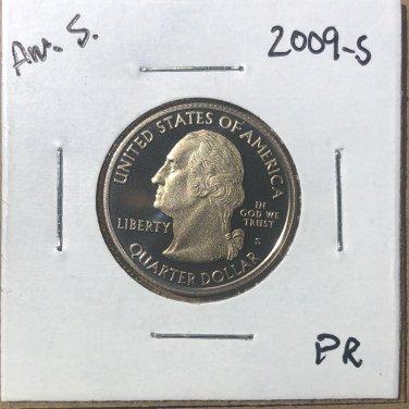 2009-S Proof Washington Quarter Am. Samoa, #3645