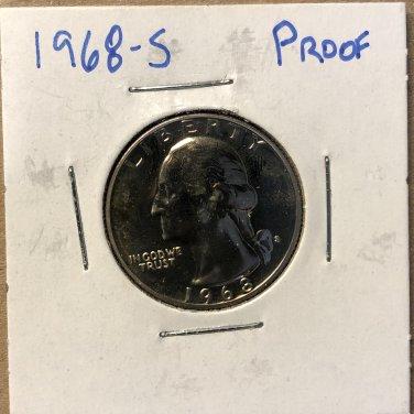 1968-S Proof Washington Quarter #2888