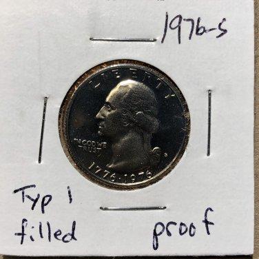 1976-S Proof Washington Quarter #1056