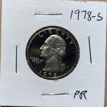 1978-S Proof Washington Quarter #1058