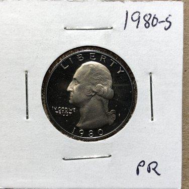 1980-S Proof Washington Quarter #1076