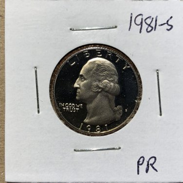 1981-S Proof Washington Quarter #1077