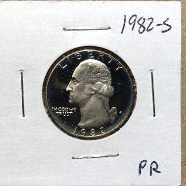 1982-S Proof Washington Quarter #1078